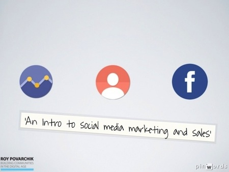 A 90 minute talk revolved around 'Intro to social media marketing and sales'