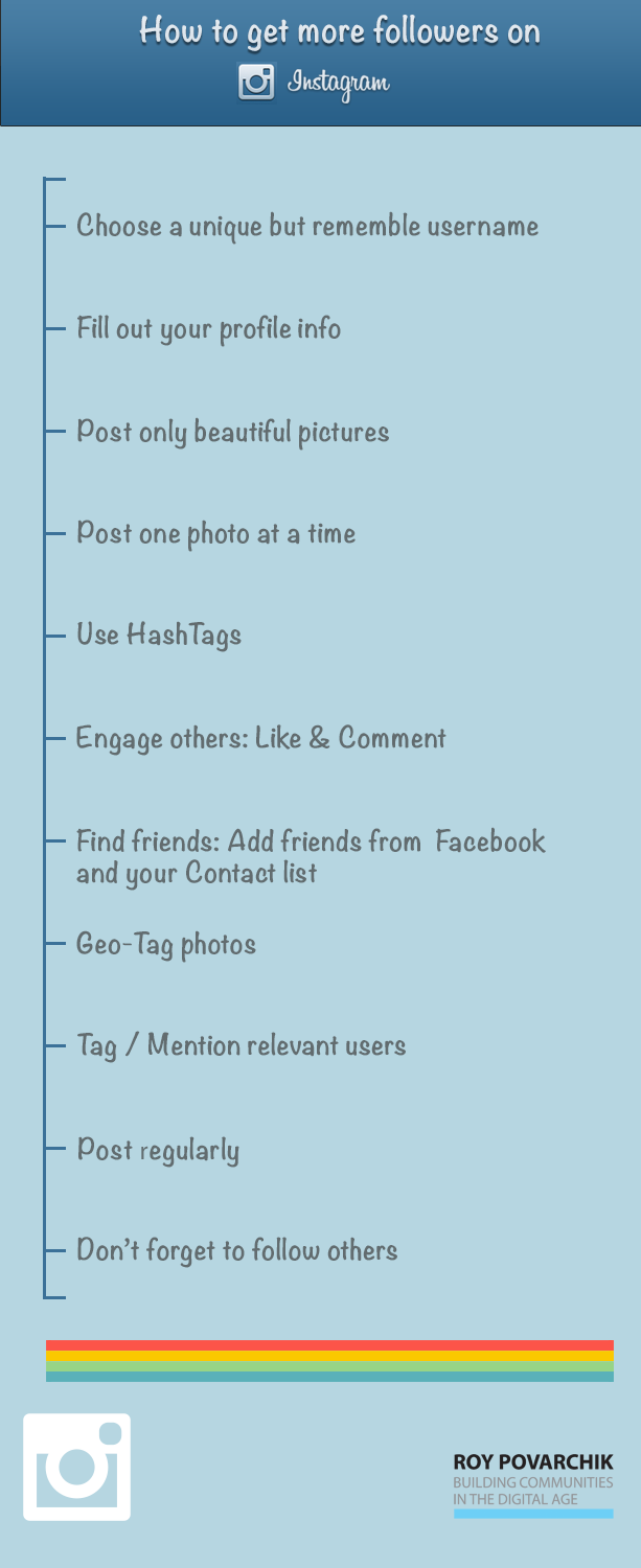 How To Get More Followers On Instagram (infographic)