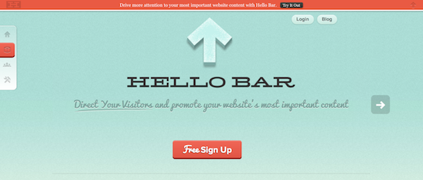 Hellobar - Great A/B testing analytics