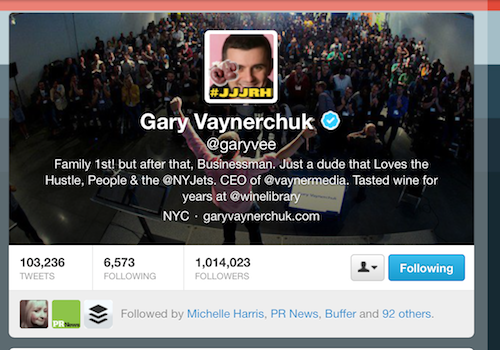 You can't get Gary Vaynerchuk's email from his bio