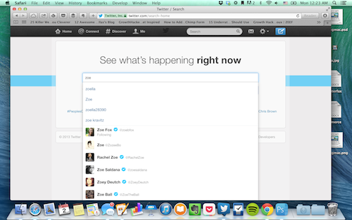 Use Twitter search to find influencers