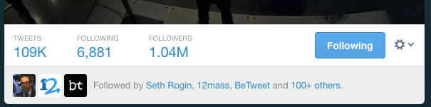 1.4 Million Twitter Follower