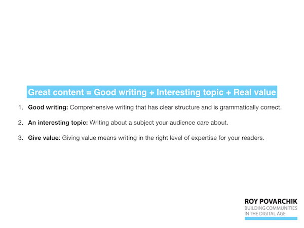 How to write great content
