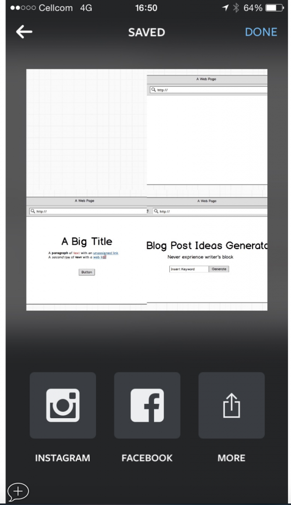 The landing page Wireframe process