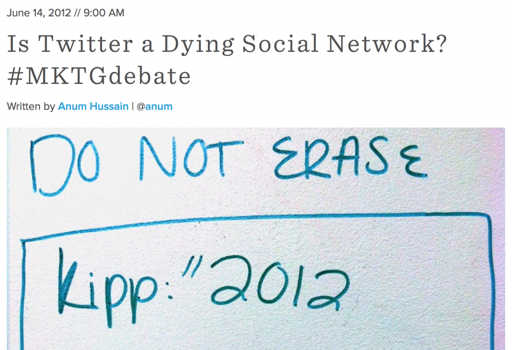 Hubspot.com - Is Twitter a Dying social network?