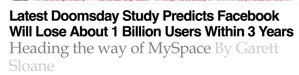 Adweek - Facebook is the Next MySpace!